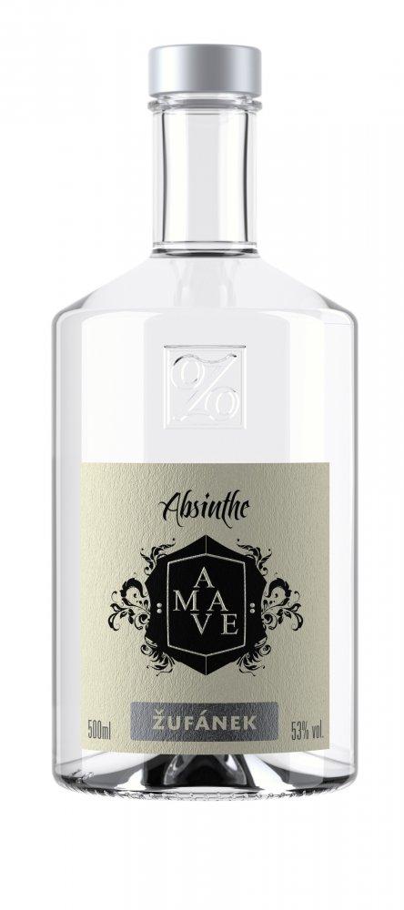 Lahev Absinthe Amave blanche Žufánek 0,5l 53%