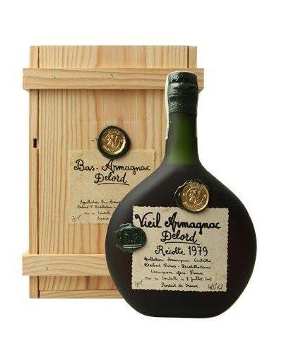 Lahev Armagnac Delord 1979 0,7l 40% Dřevěný box