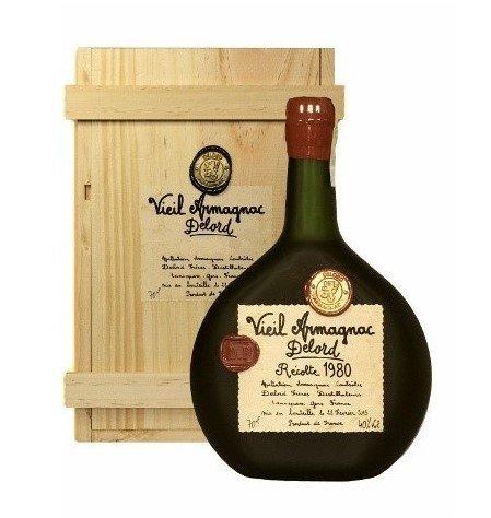 Lahev Armagnac Delord 1980 0,7l 40% Dřevěný box