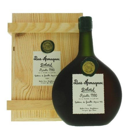 Lahev Armagnac Delord 1990 0,7l 40% Dřevěný box