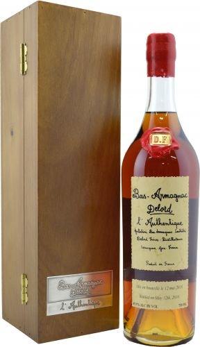 Lahev Armagnac Delord Authentique 0,7l 46% Dřevěný box