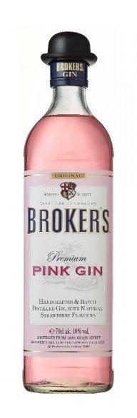 Lahev Broker's Pink Gin 0,7l 40%