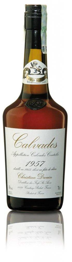 Lahev Calvados Christian Drouin Millesime 1957 0,7l 42%