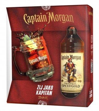 Lahev Captain Morgan Spiced Gold + korbel 0,7l 35% GB