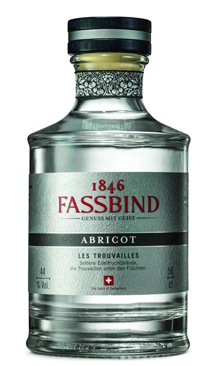 Lahev Fassbind Abricot Les Trouvailles 0,5l 44% GB L.E.