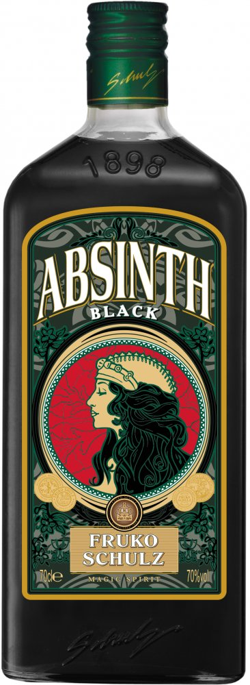 Lahev Fruko Shulz Absinth Magic Black 0,7l 70%