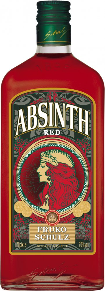 Lahev Fruko Shulz Absinth Magic Red 0,7l 70%