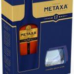 Lahev Metaxa 12* 0,7l 40% + 2x sklo GB