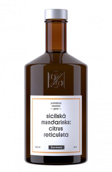 Lahev Sicilská mandarinka Žufánek 0,5l 42%